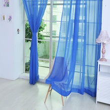 Load image into Gallery viewer, New Pure Color Tulle Door Window Curtain Drape Panel Sheer Scarf Valances