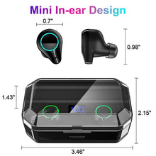 Load image into Gallery viewer, TWS Bluetooth Headset Bluetooth 5.0 IPX7 Waterproof Touch Control Sport In Ear Earphones Noise Cancellation Hands-free Call with 7000 Large Capacity Charging Box