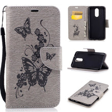 Load image into Gallery viewer, LG Stylo 5 Case,Butterfly PU Leather Magnetic Flip Card Slots Holster with Strap Kickstand Protective Wallet Case for LG Stylo 5 / Stylo 4 / Aristo 3 / Phoenix 4 / Rebel 4 LTE / Tribute Empire