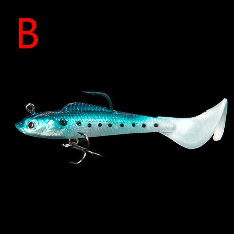 1/6Pcs 9cm 9.5g Soft Minnow Bass Soft Lure Fishing Shad Fishing Worm Sea bass Jig Head silicone bait Fly Fishing Lead hook Bait