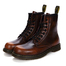 Load image into Gallery viewer, New England Style Genuine Leather Martin Boots Martin Shoes Marten Dr Designer Motorcycle Boots Size35-47