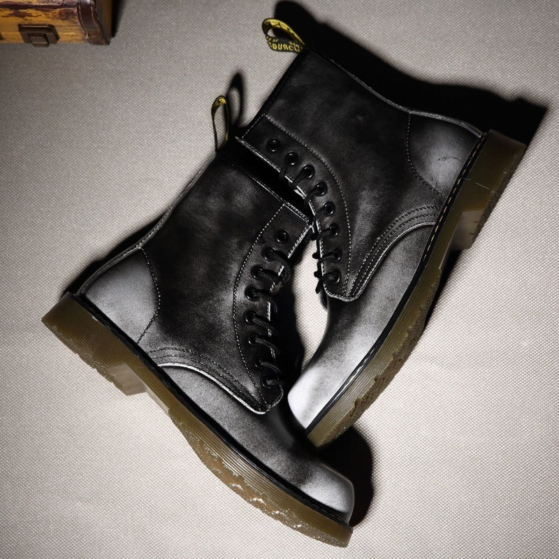 New England Style Genuine Leather Martin Boots Martin Shoes Marten Dr Designer Motorcycle Boots Size35-47