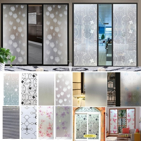 45*100cm Waterproof Frosted Privacy Bathroom Window   Glass Film Stickers PVC Self-adhesive Film Home Decor
