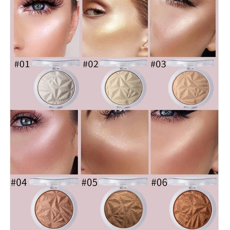 Highlighter Facial Palette Makeup Face Contour Shimmer Powder Long Lasting Body Base Highlighter Cosmetics