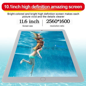 WiFi Tablet PC 2560*1600 IPS Screen 11.6 Inch Ten Core 6G+128G Android 8.1 Dual SIM Dual Camera Rear 13.0MP IPS New