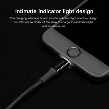 Load image into Gallery viewer, Baseus LED Lighting Type-C cable Lightning Cable Micro USB Cable for Samsung iPhone Android Mobile Phone Fast Charging Cable Data Cable