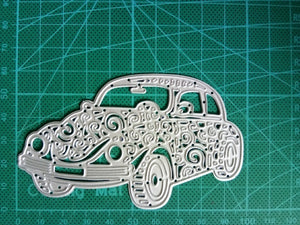 Diy Retro Lace Pattern Car Border Stencil Metal Cutting Dies Scrapbooking Craft Embossing Die Cut Making Stencil Template