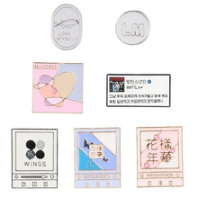 Load image into Gallery viewer, New Cute Kpop Bts Love Yourself Metal Badge Brooch Pins For Hats Clothes Backpack Hot