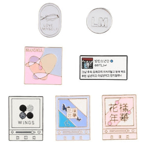New Cute Kpop Bts Love Yourself Metal Badge Brooch Pins For Hats Clothes Backpack Hot
