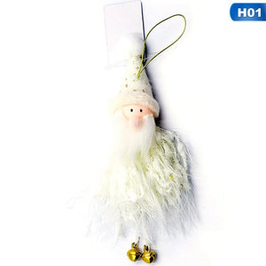 2019 Christmas Ornaments Plush Toy Doll Cute Christmas Angel Santa Snowman Pendant Christmas Tree Decoration