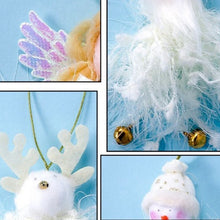 Load image into Gallery viewer, 2019 Christmas Ornaments Plush Toy Doll Cute Christmas Angel Santa Snowman Pendant Christmas Tree Decoration