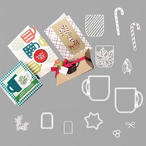 Lovely cup Metal Cutting Dies and stamps DIY Scrapbooking Card Stencil Paper Craft Handmade Album Handbook Home Decor