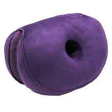 Load image into Gallery viewer, 1Pc Foldable Dual Comfort Back Cushion Memory Sponge Hips Lifting Office Seat Pad Mat
