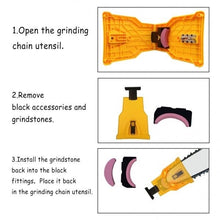 Load image into Gallery viewer, Portable Fast Grinding Chain Stone Gardening Chainsaw Sharpener Sharpening Tool