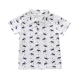 Summer Baby Boy Clothes Summer Crown Print Short Sleeve Shirt Blouse Shorts Casual Outfits Clothes