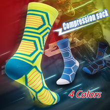 Load image into Gallery viewer, 4 Colors Breathable Compression Socks Below Knee Anti-friction Stocking Cycling Sports