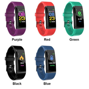 115 Plus Smart Band Blood Pressure Heart Rate Monitor Waterproof Fitness Sport Health Bracelet