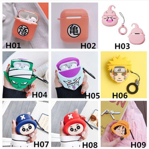 3D Cartoon Anime Character Silicone Airpods Skin Chic Cover Case For Apple Airpods(Airpods Is Not Included)