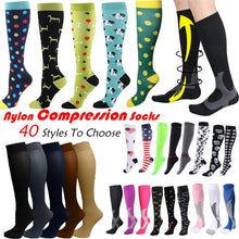 Load image into Gallery viewer, 49 Styles To Choose  Compression Socks for Unisex-Good Graduated Athletic & Medical for Men/Women Adapt Running Flight Travels Mountaineering