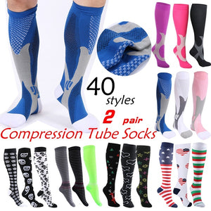 49 Styles To Choose  Compression Socks for Unisex-Good Graduated Athletic & Medical for Men/Women Adapt Running Flight Travels Mountaineering