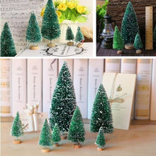 Load image into Gallery viewer, 10pcs Mini Sisal Bottle Brush Christmas Tree Santa Snow Frost Village Putz House