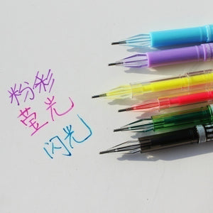 36pcs/24pcs/12pcs Colour GEL PENS  Pastel Glitter Metallic Neon