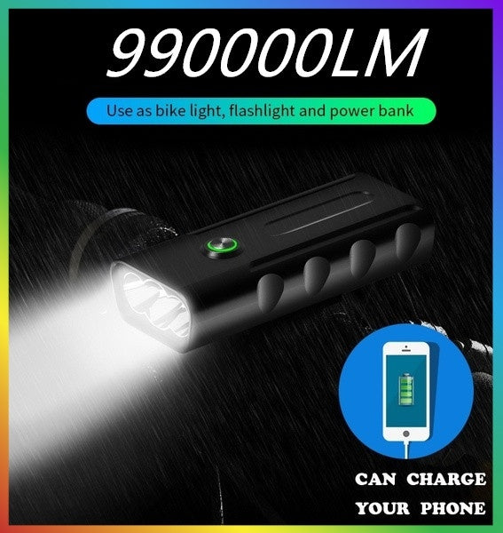 BX3 bicycle light mountain car light T6 flashlight night riding super bright headlights rechargeable glare riding equipment
