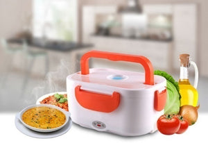 110V/220VHeating Lunch Bento Box &12V Portable Electric Heated Car Plug Heating Lunch Bento Box Rice Container Office Home Food Warmer Food Grade Material