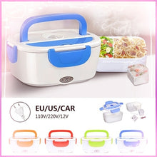 Load image into Gallery viewer, 110V/220VHeating Lunch Bento Box &12V Portable Electric Heated Car Plug Heating Lunch Bento Box Rice Container Office Home Food Warmer Food Grade Material