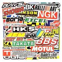 Load image into Gallery viewer, 50/100 PCS Racing Car Stickers Graffiti JDM Car Modification Waterproof Sticker for Motorcycle Bicycle Helmet Motor Suitcase Laptop