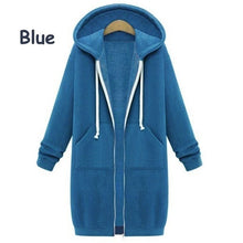 Load image into Gallery viewer, Winter Women Cardigan Extra Long Thicken Velvet Jacket Loose Hoodie Coat
