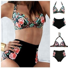 Load image into Gallery viewer, Women's High-waisted Printed Swimsuit Bikini