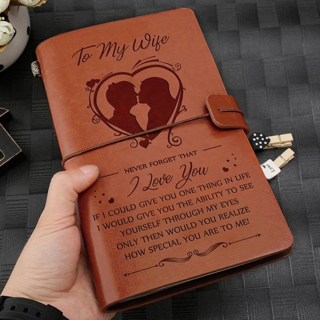 Leather Journal Refillable Travel Journal Small Size Easy for Carry, Best Gift To  Daughter Son Man Wife 4.7x7.8inch