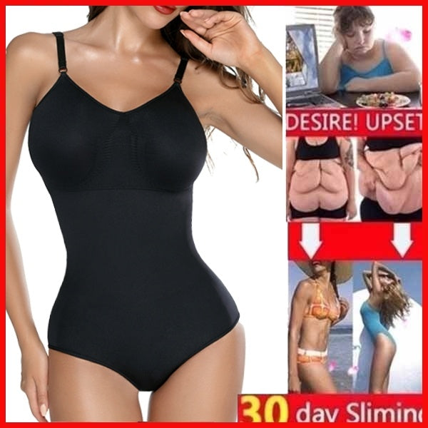Women's Body Shaper Bodysuit Shapewear Tummy Control Seamless Slimming Full Shapewear