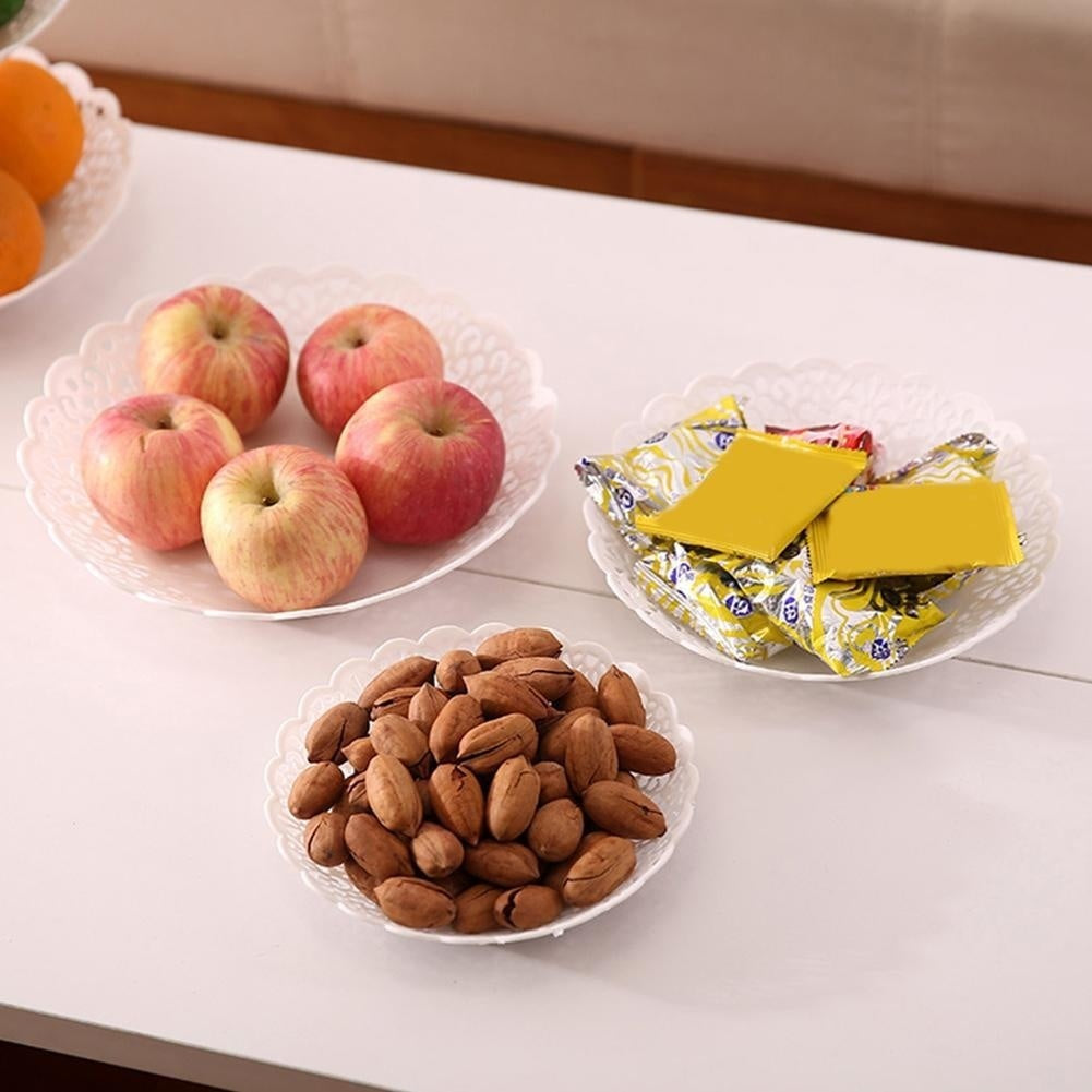 Creative European Fruit Plate Three-layer Fruit Snack Tray Removable Fruit Plate Wedding Supplies