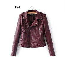 Load image into Gallery viewer, 2019 Leather Jacket for Women Motorcycle Jacket New Fashion Women Personality