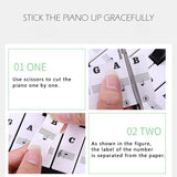 Piano Sticker Transparent Piano Keyboard Sticker Removable Electronic Keyboard 37/49/54/61/88 Key Piano Sticker For Kids Beginners Piano Practice