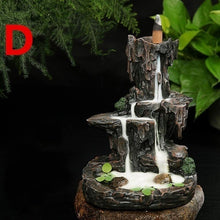 Load image into Gallery viewer, 2019 New Waterfall  Backflow Incense Burner Mountain Tower Incense Holders for Home Office Decor (with 50 Cones)
