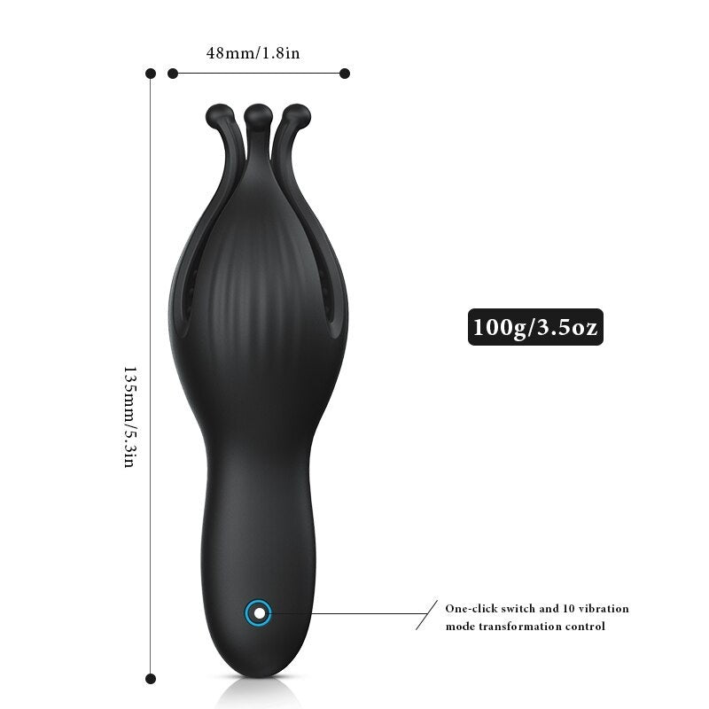 Automatic Glans Vibrator for Men Vibrator Body Massager Delay Ejaculation Sex Toy for Man