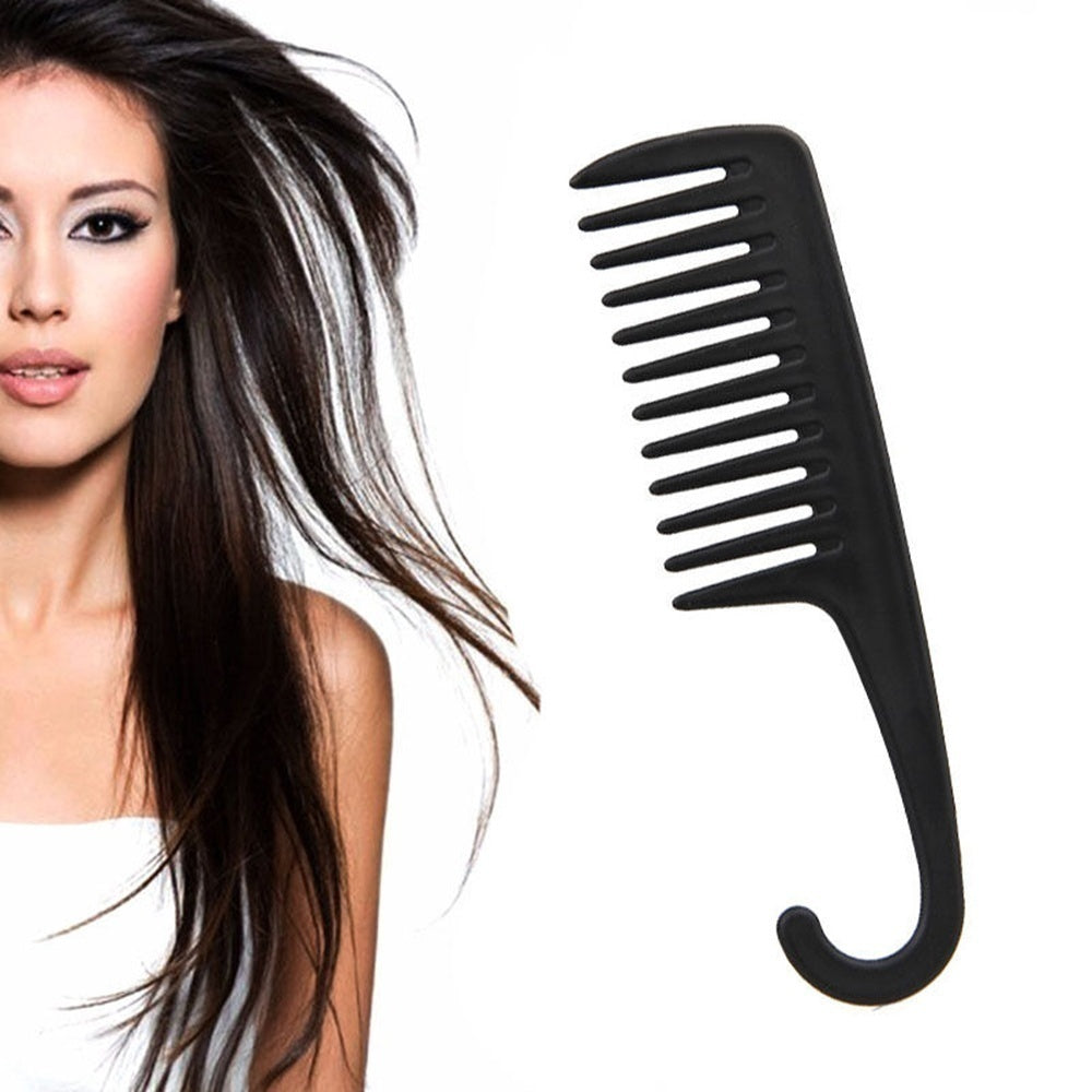 New Anti-static Plastic  Health Care Hairdressing Wide Tooth Comb Salon Styling Tool Detangling