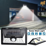 1/2PCS Solar Lights 20/24/30/40/44/60/ 118LED Wall Solar Light Outdoor Security Lighting Nightlight Waterproof IP65 Motion Sensor Detector Garden Back Door Step Stair Fence Deck Yard Driveway