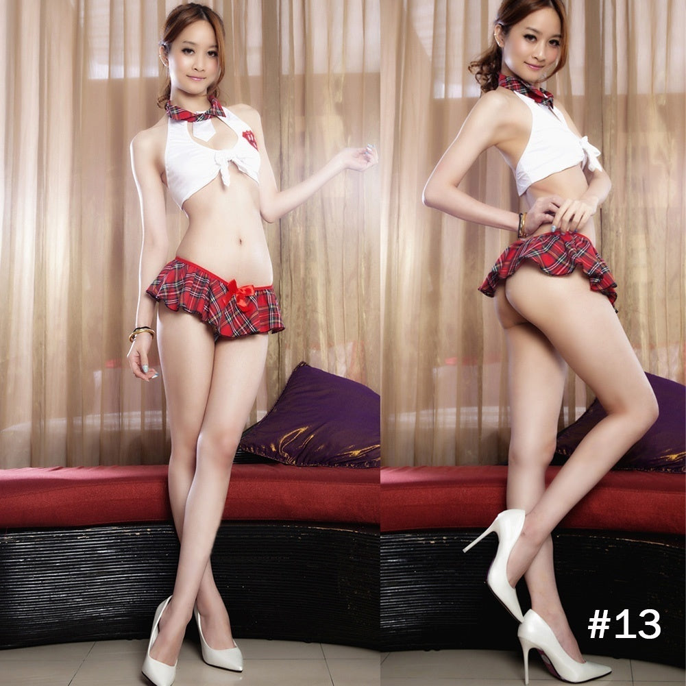 Women Sexy Cosplay Costumes Uniform Costume Lingerie Outfit Dress Clubwear Suit G-string