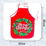 Santa Claus Christmas Apron Cotton Linen Aprons 60*80Cm Adult Bibs Home Kitchen Cooking Baking Cleaning Accessories