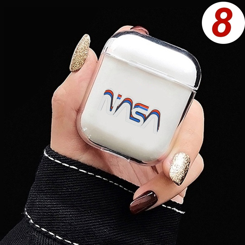 NASA Universe Printing Clear Transparent Bluetooth Wireless Earphone Cases For Apple AirPods TPU Protective Cover For AirPods Charging Box