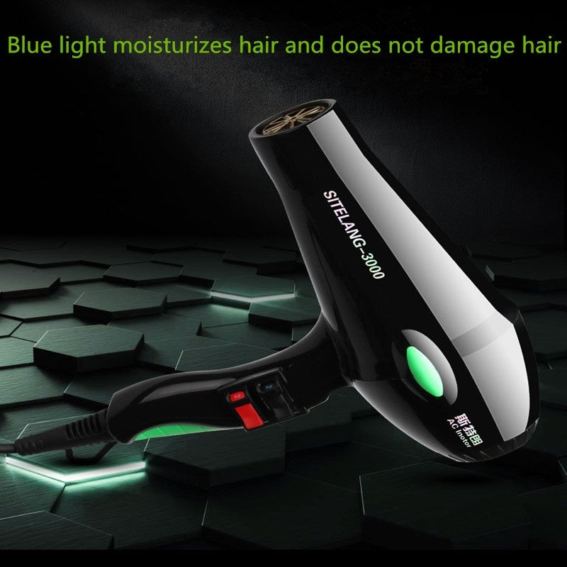 High Power 3000W Professional Blue Negative Ion Household Hair Dryer Hair Care Special