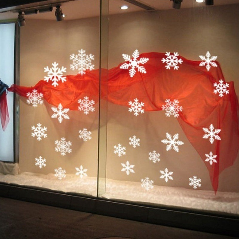New Christmas Snowflake Wall Stickers Reusable Christmas Window Clings Stickers Vinyl Decal Decor Xmas Party Home Decor (7 Styles)