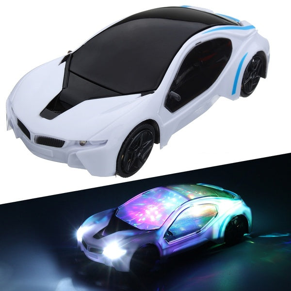 3D LED Flashing Light Car Toys Music Sound Electric Toy Cars Kids Children Christmas Gift 22.5cm*11.5cm*7cm