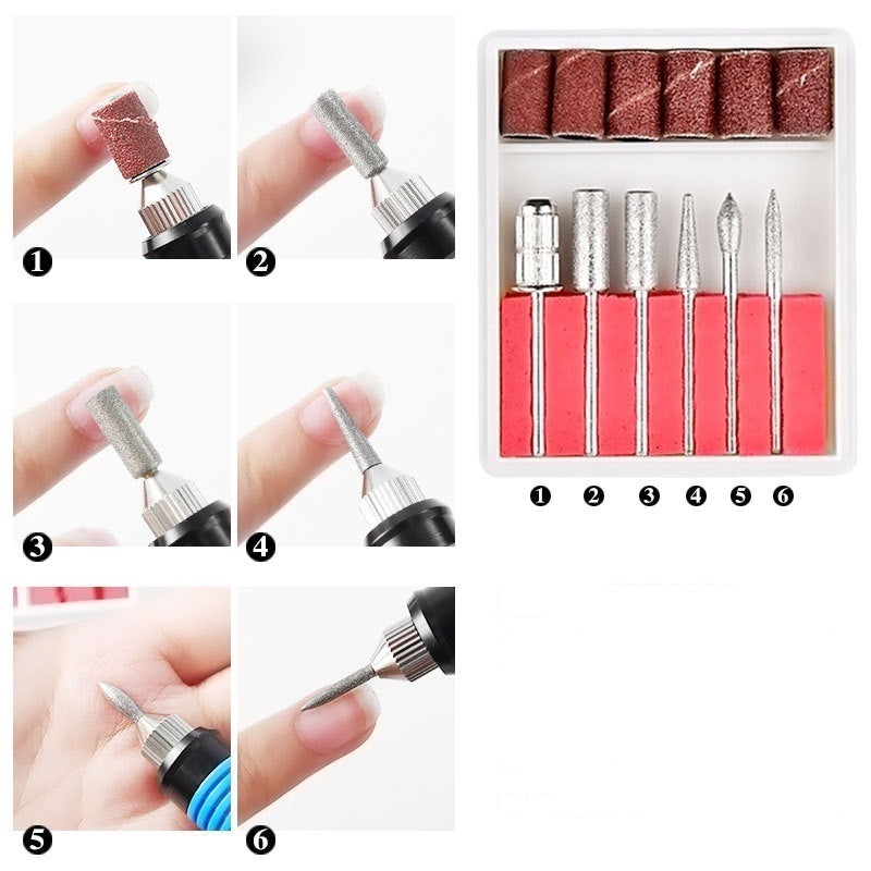 35000 RPM Professional Electric Nail Drill Machine Manicure Pedicure Set Sander Polisher Nails Drills Care Art Pen File Salon DIY Kit (Colors:Gold/Black/Pink/White)