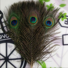 Load image into Gallery viewer, Top quality peacock feathers 10 Pcs/lot length 25-32 CM beautiful natural peacock feather Diy jewelry Decorative Deco fittings