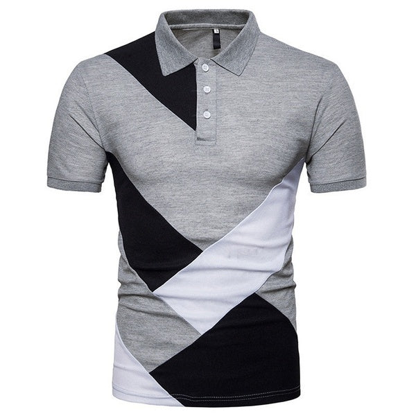 Summer Men 's Casual Polo Shirt Fashion Personality Slim Fit Polo Shirt